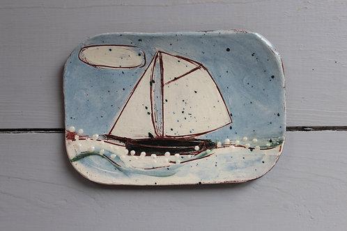 Foamy Sea postcard plate