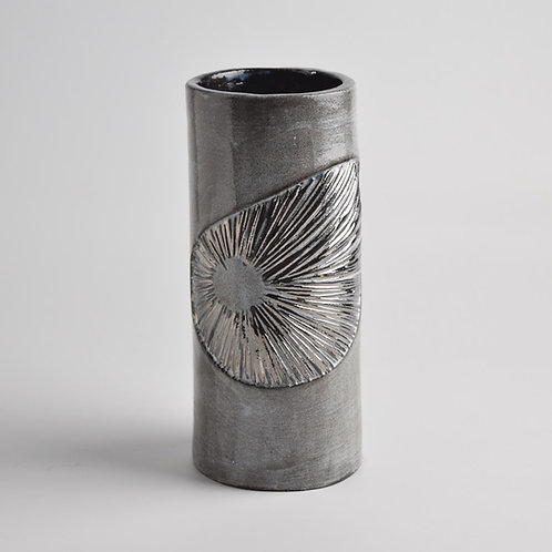 Tall Platinum Shell Vase