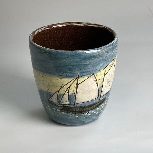 Beach and Moon Drinking Vessel