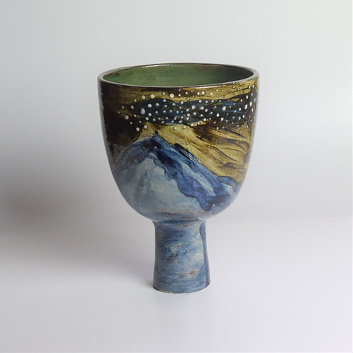 Starry Night Pedestal Bowl