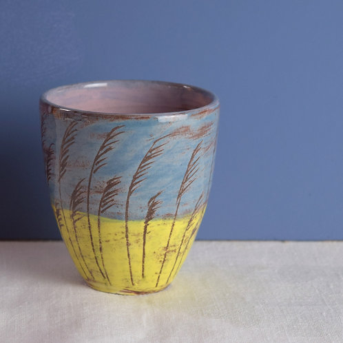Riverbank Reeds Drinking Vessel