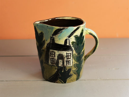 House, Steamer and Trees Jug