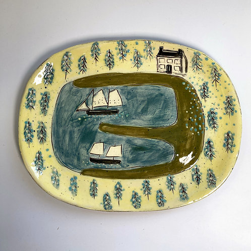 House in the Happy Forest Platter