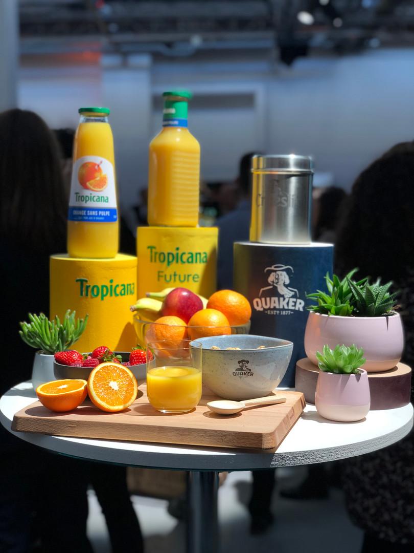 Les produits Quaker et Tropicana