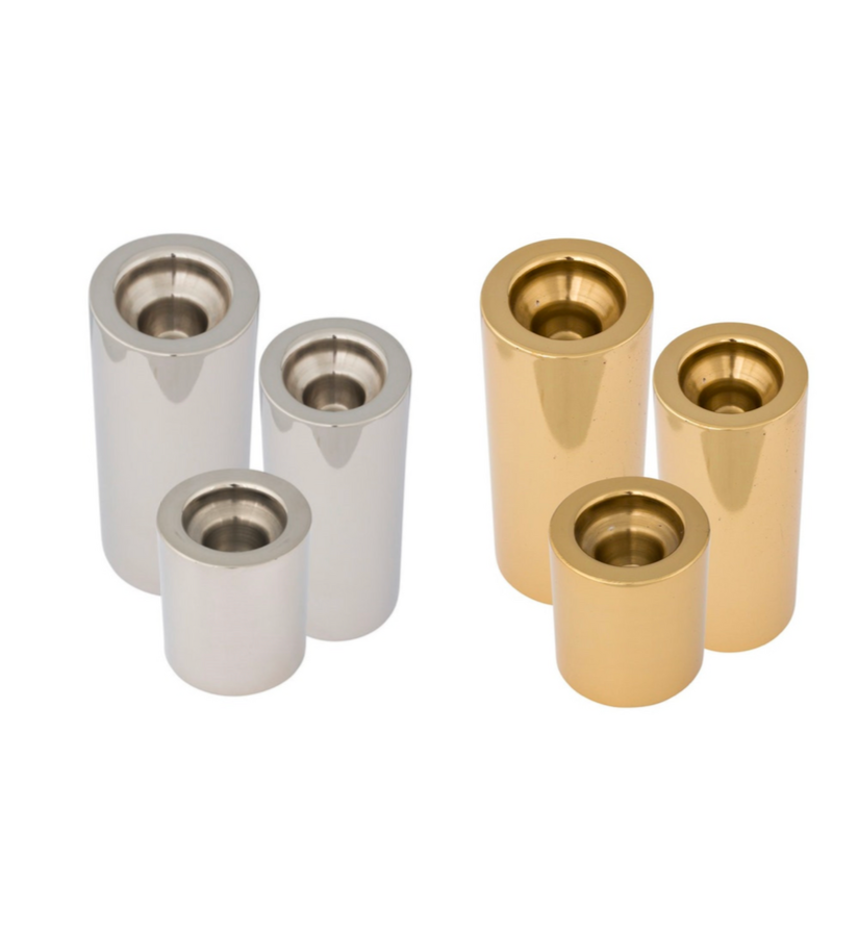 Silver & Gold Barrel Holders