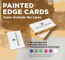 Painted Edge Cards