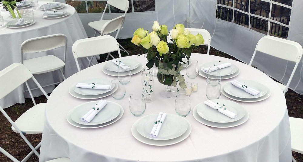 Harmony Party Rental - Table set up