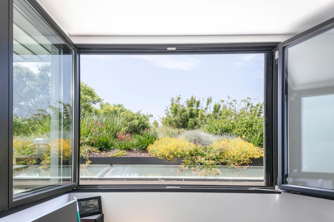 native roof garden