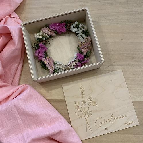 """Box personalizzata con ghirlanda floreale """"MINI"""""""