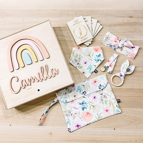Welcome baby box - Set Nascita + Portapannolini + Fascetta + Card Mesi