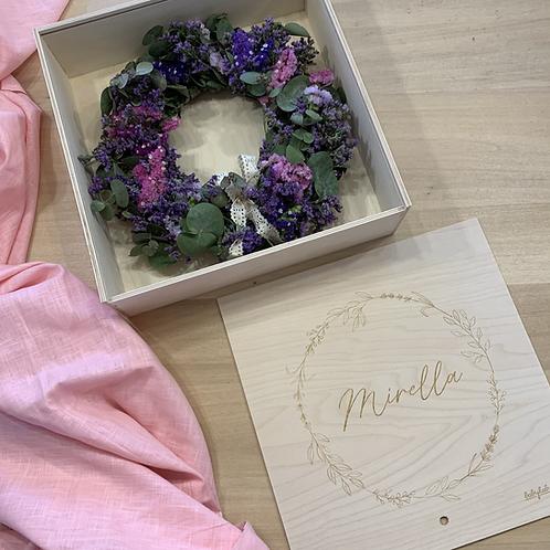 """Box personalizzata con ghirlanda floreale """"MAXI"""""""