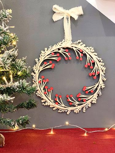 Ghirlanda natalizia in legno