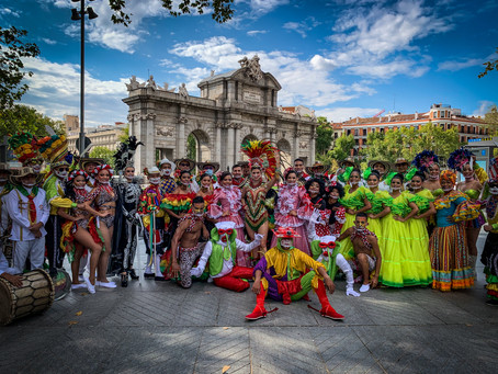 Así se vivió la tradición del Carnaval de Barranquilla en las calles de Madrid