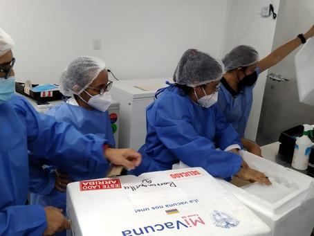 81.200 vacunas de la farmacéutica Moderna llegaron a Barranquilla