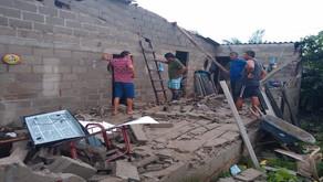 Adelantan censo de familias afectadas por lluvias y fuertes vientos en el Atlántico