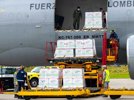 Colombia recibió 2.5 millones de vacunas Janssen donadas por Estados Unidos