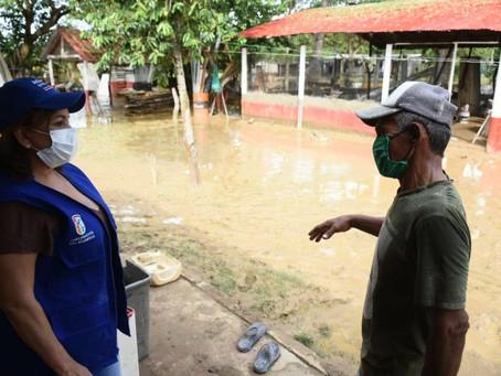 17 municipios en el Atlántico resultaron afectados por fuertes lluvias durante el fin de semana