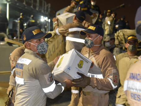 Buque con15 toneladas de ayudas humanitaria se dirige a San Andrés