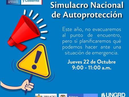 Este jueves Atlántico participará de Simulacro Nacional de 'Autoprotección'