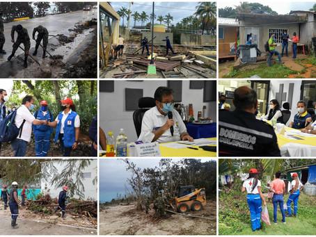 Gobierno Nacional atenderá afectaciones que dejó huracán ETA en San Andrés
