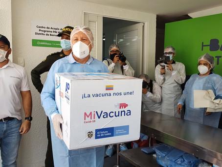 Barranquilla ya recibió las primeras vacunas para su personal de la salud