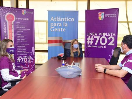 En el Atlántico activan 'Línea Violeta' para atención de casos de violencia de género