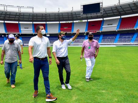 En el estadio Metropolitano avanzan obras de remodelación