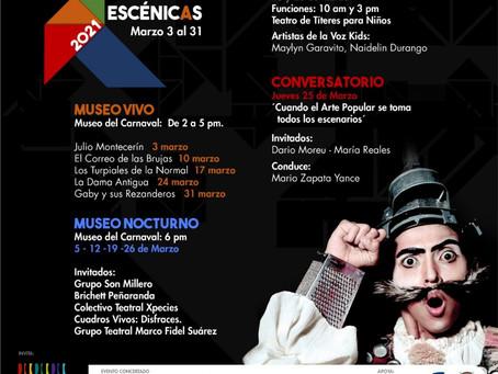 Marzo se viste de teatro con el Festival de Artes Escénicas 2021
