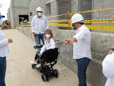 Avanzan obras de 11 proyectos de infraestructura social en el Atlántico