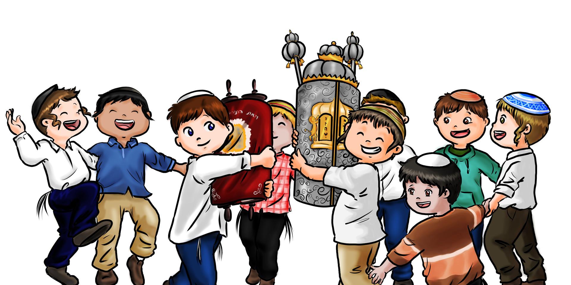 ילדים רוקדים עם ספר תורה 2.jpg