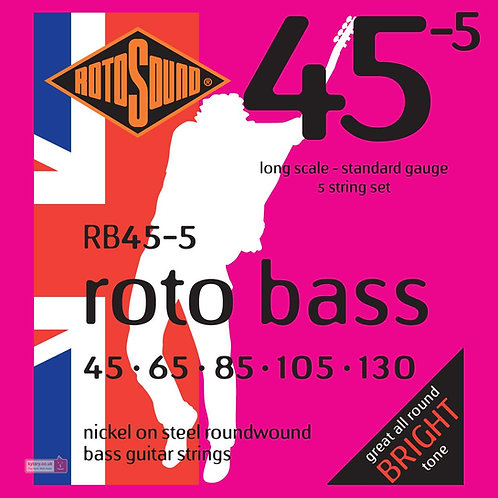 Rotosound RB45-5 Standard Bass Guitar Strings