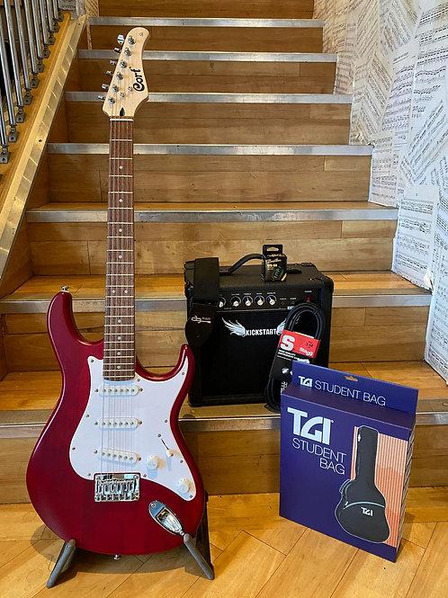 Electric Guitar Pack Cort 3 - G100 RD/Kickstart 10