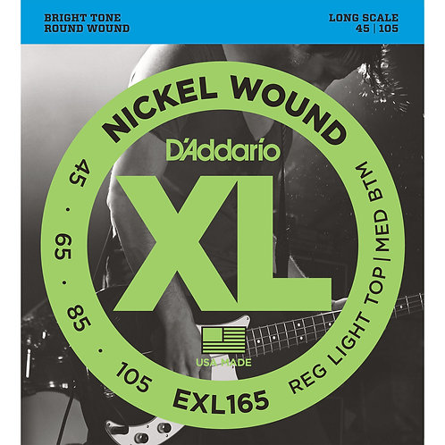 D'Addario EXL165 Reg Light Top/MED BTM Bass Guitar Strings