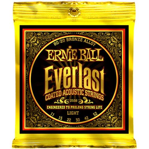 Ernie Ball Everlast 2558 Light Coated Acoustic Guitar Strings