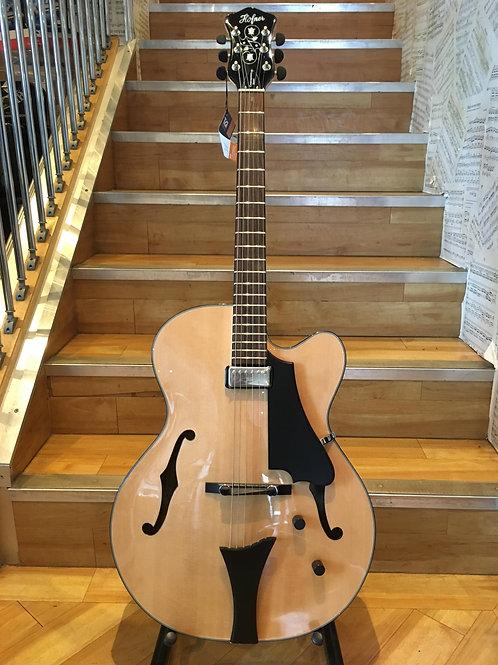 Hofner HCT Jazz Guitar Blue Tone Archtop Single, Nat