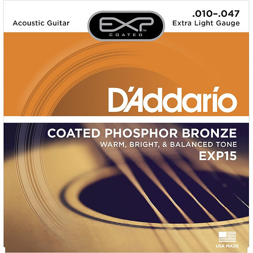 D'Addario EXP15 Coated Acoustic Guitar Strings