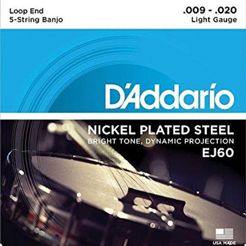 D'Addario EJ60 5-String Banjo