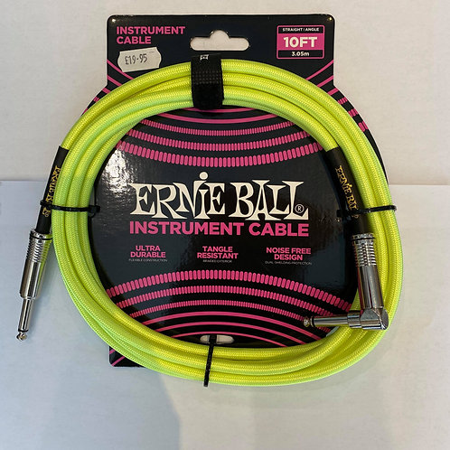 Ernie Ball 3M/10FT Instrument Cable Green