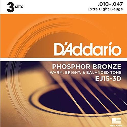 D'Addario EJ15-3D Acoustic Guitar Strings