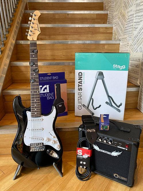 Electric Guitar Pack 2 (3/4)- Aria Mini BK