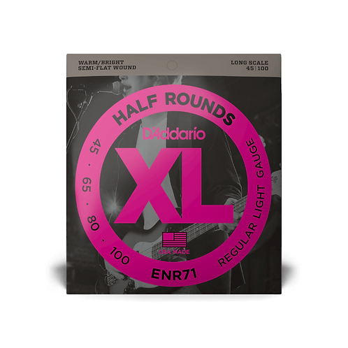 D'Addario ENR71 Regular Light Half Round Bass Guitar Strings