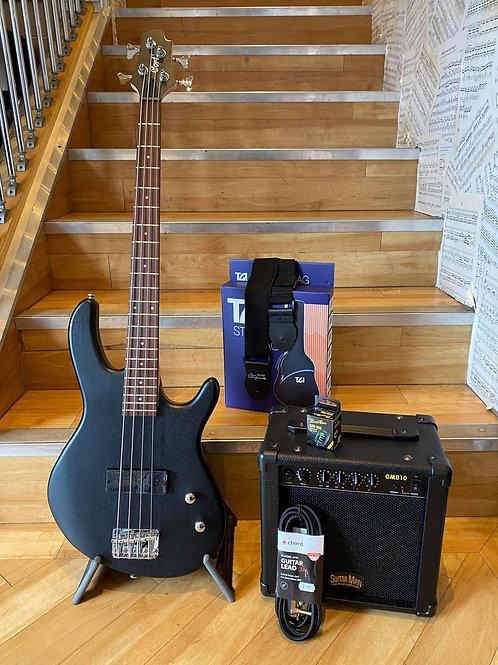 Cort Action JNR Bass Guitar Pack 1 OPN BK