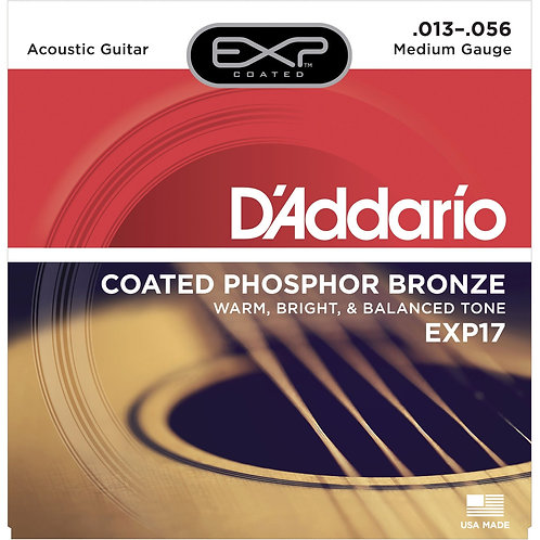 D'Addario EXP17 Coated Acoustic Guitar Strings