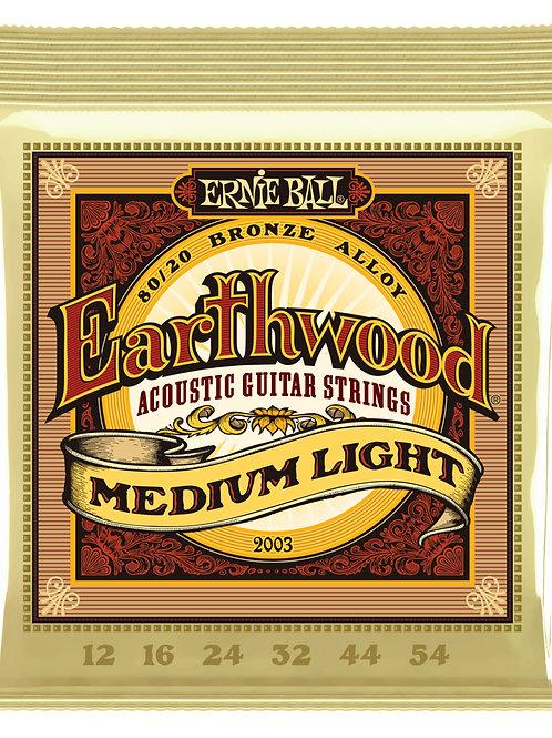 Ernie Ball Earthwood 2003 Medium Light Acoustic Guitar Strings