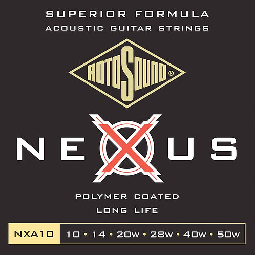 Rotosound NXA10 Coated Acoustic Guitar Strings