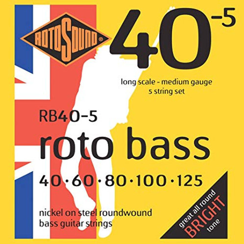 Rotosound RB40-5 Medium Bass Guitar Strings