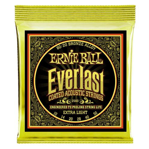 Ernie Ball Everlast 2560 Extra Light Coated Acoustic Guitar Strings