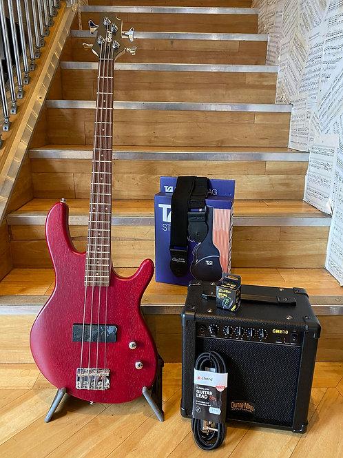Cort Action JNR Bass Guitar Pack 1 OPN RD