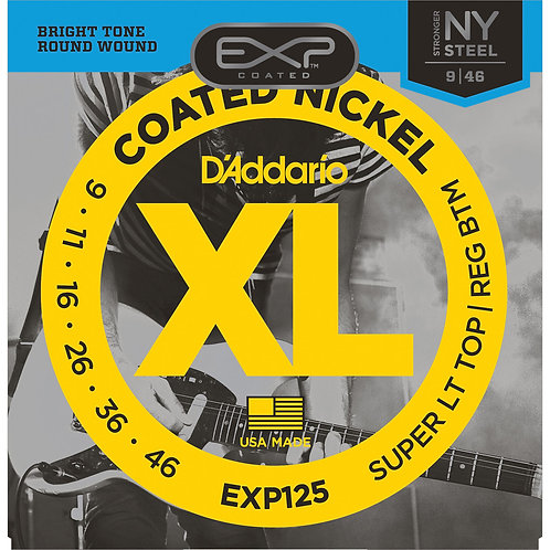D'Addario EXP125 Coated Nickel Wound Electric Guitar Strings
