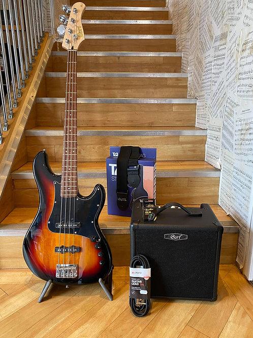 Cort GB34 JJ Bass Guitar Pack 2 SB